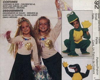 "Mermaid, Alligator & Frog adult costume, McCall's 9492, Size small, chest 32-1/2"", 34"""