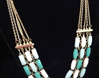 African multi layer necklace