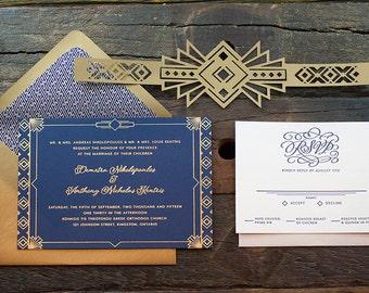 Deco Wedding Invitation Sample