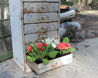 rustic industrial storage cabinet distressed metal filing cabinet yard and garden decor industrial office design photo