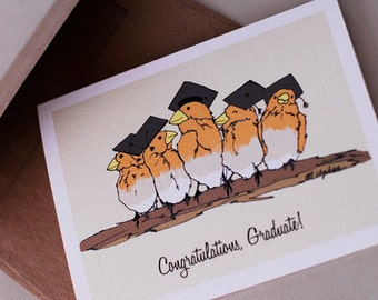 Graduation Birds- Blank Card