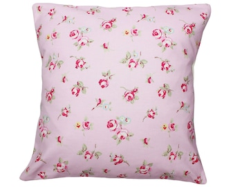 Rose Rosebud Clarke and Clarke Floral Fabric Vintage Shabby Chic Cushion Cover