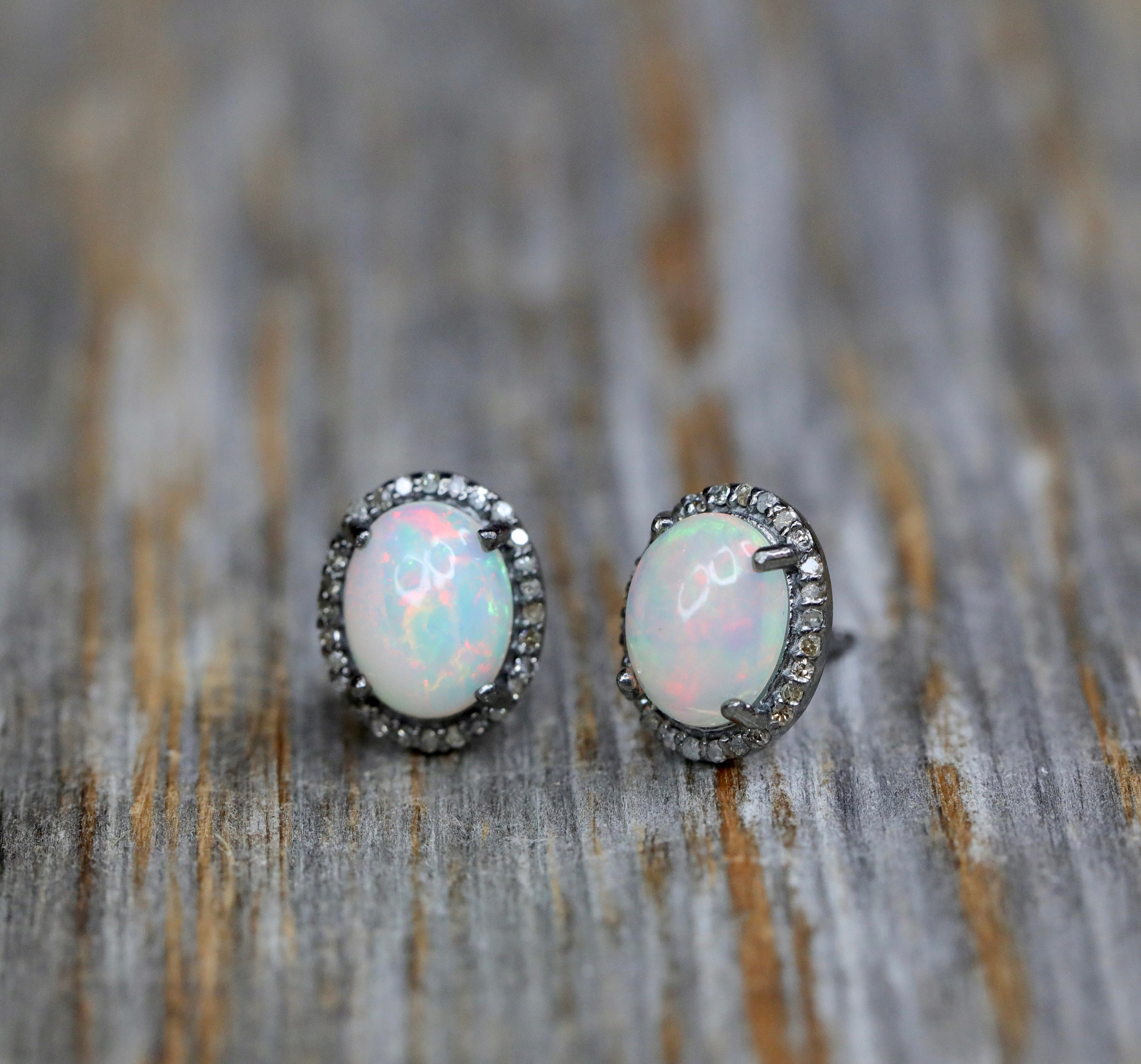 genuine stud mint opal fire gift harlequin ring caymancode
