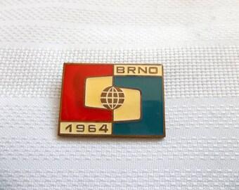 Brno 1964-  Brno Exposition - vintage Brno Pin