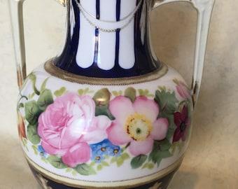 Hand painted Noritake / Nippon Japan porcelain Urn / Vase
