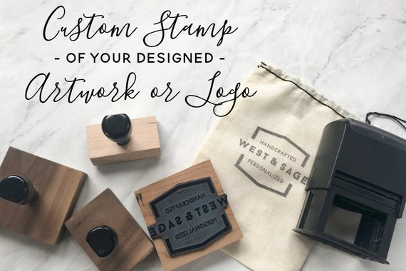 Custom logo stamp business card stamp logo rubber stamp colourmoves