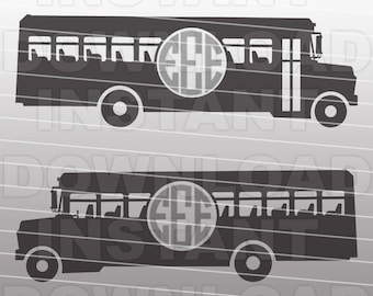 School Bus SVG File,Bus Driver SVG-Cutting Template-Vector Clip Art for Commercial & Personal Use-Cricut,Cameo,Silhouette,decal,Cut File