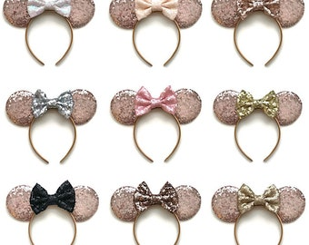 ROSE GOLD Minnie Mouse Sequin Ears