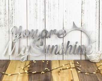 You Are My Sunshine Metal Wall Art | Sun | Metal Sign | Metal Wall Decor | Wall Hanging | Sign | Word Wall Art | Sunshine | Wall Art