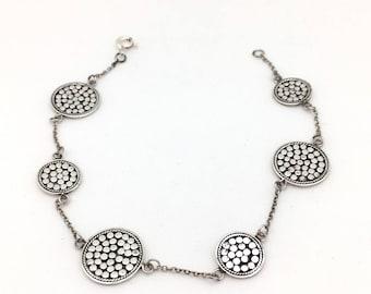 Sterling Silver Bali Station Bracelet