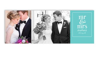 Wedding Bride and Groom Facebook Timeline Cover - Photoshop Template - First Day - 1295