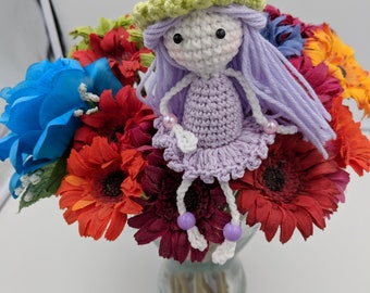 Lavender Elf Doll free shipping