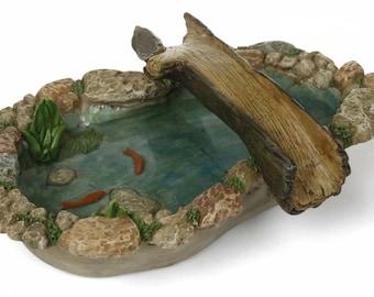 Fairy Garden  - Tree Bridge Pond - Miniature