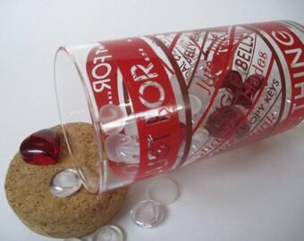 Vintage Just About Anything Glass Storage Jar Cork Lid Hallmark