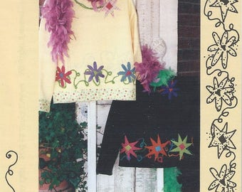 Funky Flowers by Kay Whitt for Serendipity Gifts - Applique Pattern