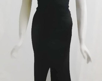 Vintage GIANNI VERSACE COUTURE Long Dramatic Black Dress