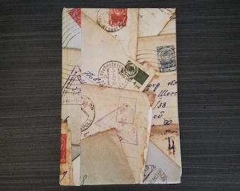 Vintage Journal, Handmade Sketchbook, Antique Book Cover