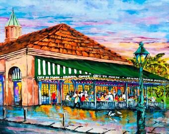 Café du Monde, Jackson Square, New Orleans French Quarter, French Quarter Coffee Shop, New Orleans Beignets - 'A Morning at Café du Monde'