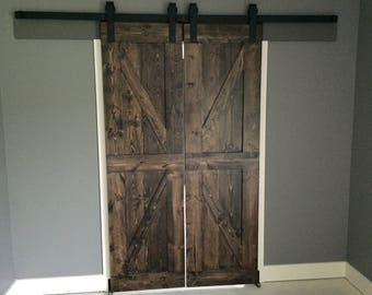 British Brace Style Farmhouse Sliding Barn Door