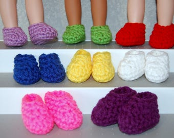 "Slippers One Pair your choice - fits 14"" Wellie Wishers Mine to Love  tkct1137 READY TO SHIP"