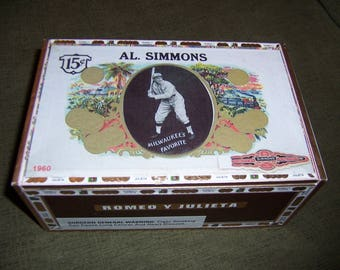 Al Simmons / Hugh Jennings Baseball Cigar Box Stadium