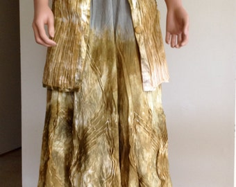 Women's Handmade Skirt, OOAK, Art to Wear,Alternative Wedding Skirt
