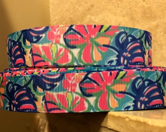 5 YDS Lilly Inspired Tropical Elephant Ear Ribbon