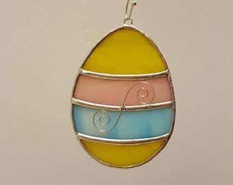 Stained Glass Easter Egg Suncatcher