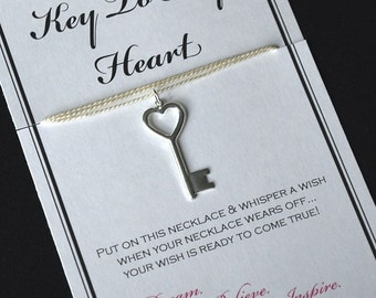 Key To My Heart Wish Necklace - Buy 3 Items, Get 1 Free