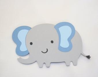 Scrapbook Embellishments, Elephant Die Cut - Set of 4