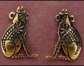 Egyptian Cat Charm - C700-PR