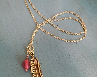 Feather spirit necklace!
