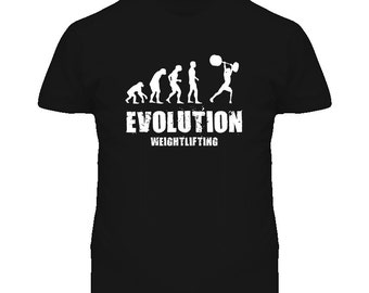 Evolution Weightlifting Weight Lifting T Shirt