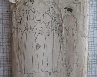 """1950s Shirtwaist Dress - 36"""" Bust - Butterick 5326 - Vintage Sewing Pattern"""