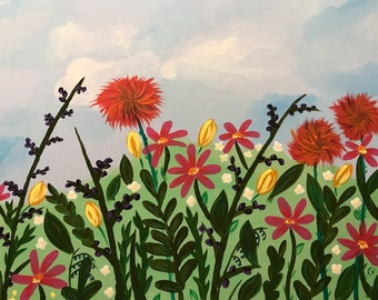 Field of Happy Acrylic Original