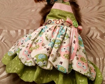 Halter top dog dress.