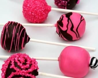 Black & Hot Pink Cake Pops