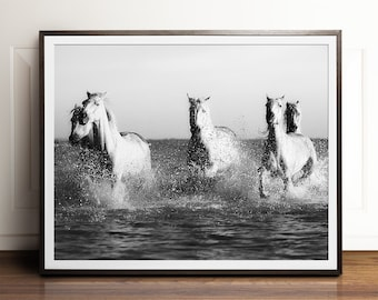 Horse art, Black and white photography, PRINTABLE art, Horse photography, Black and white art, Art prints, Large wall art, Contemporary art