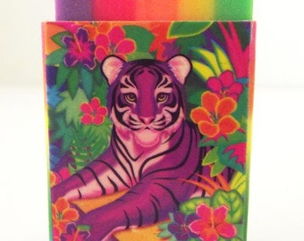 Lisa Frank Masterpieces Eraser Purple Tiger
