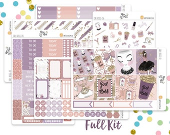 Girl Boss- A LA CARTE- Vertical Weekly Kit Planner Stickers; Planner, Coffee