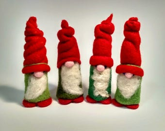 Hand-felted Christmas elves! Christmas Elf!