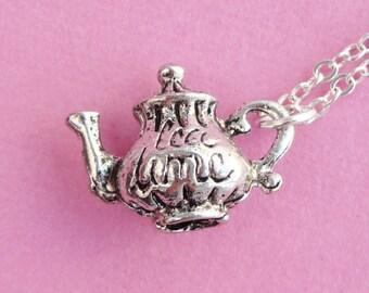 Tea Time Teapot Necklace  (R4A-A5B)