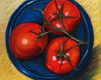Fresh Picked - Original Pastel Painting by artist Valorie Sams