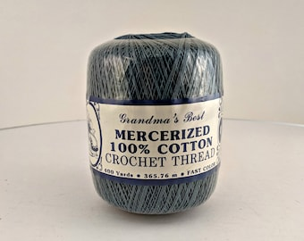 Vintage New Old Stock Grandma's Best Mercerized Cotton Crochet Thread 400 Yards