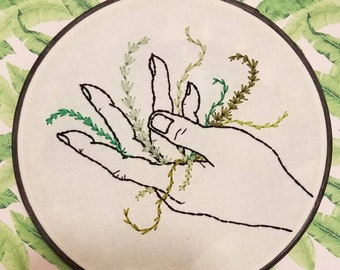 Blossoming Embroidery Hoop