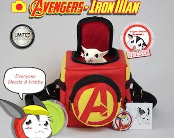 Avengers Bag Sugar Glider Academy Squirrel Rat Hamster Bonding Travel Pouch Iron Man  (+ Many Bonus)