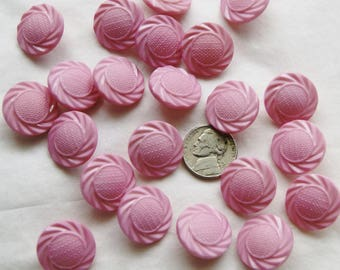 22 Pink Shank Buttons, Matching Buttons, Crafting , Jewelry  (D 23)