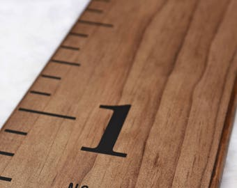 """Growth Chart Ruler Add-On -- Custom Personalization Decal -- For the Side - """"No Tippy Toes"""""""
