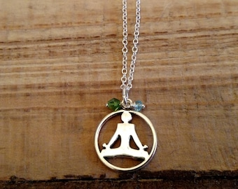 Yoga Pose Necklace- Lotus Position