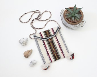 S A L E woven alpaca cross body handbag